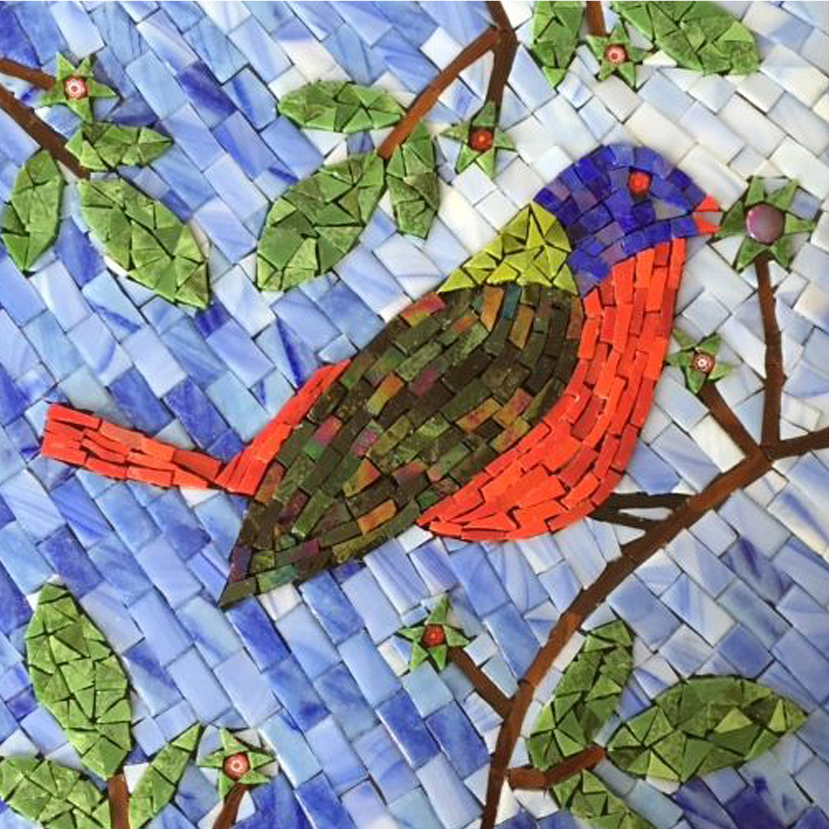 "Charlie Harpers Painted Bunting, 10""x10"""