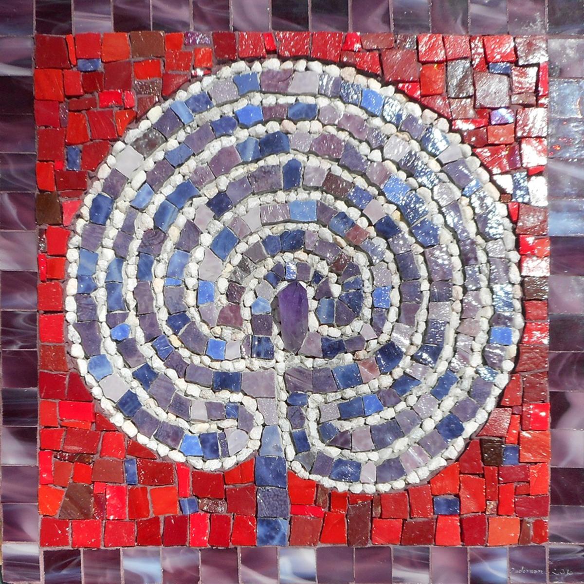 "Purple Haze Labyrinth, 12""x12"""