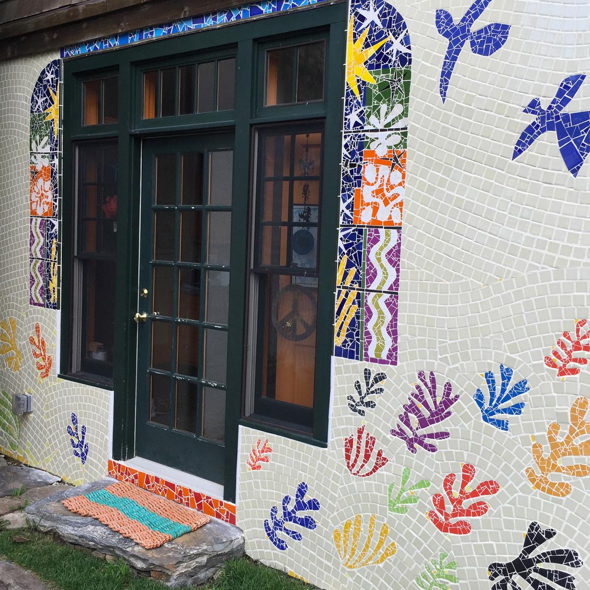 "Cathleen Newsham, ""Homage to Matisse"" Garden Wall Mosaic"