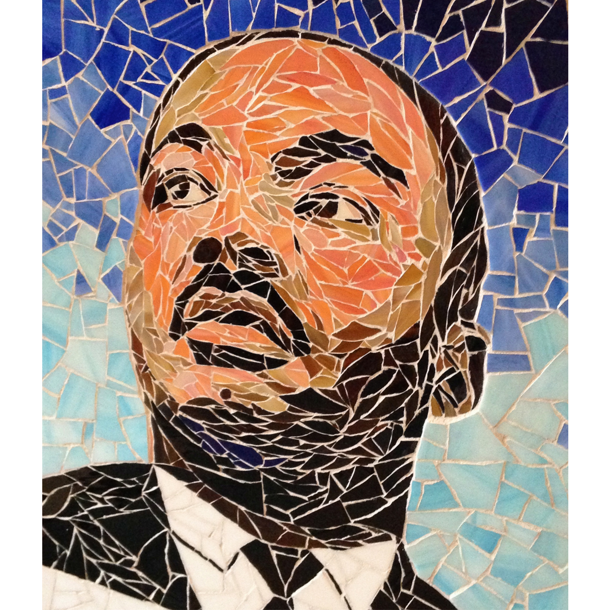 "Michael Ferreira, MLK Jr. from ""Pieces of Our Past"" Mural, 16""x20"""