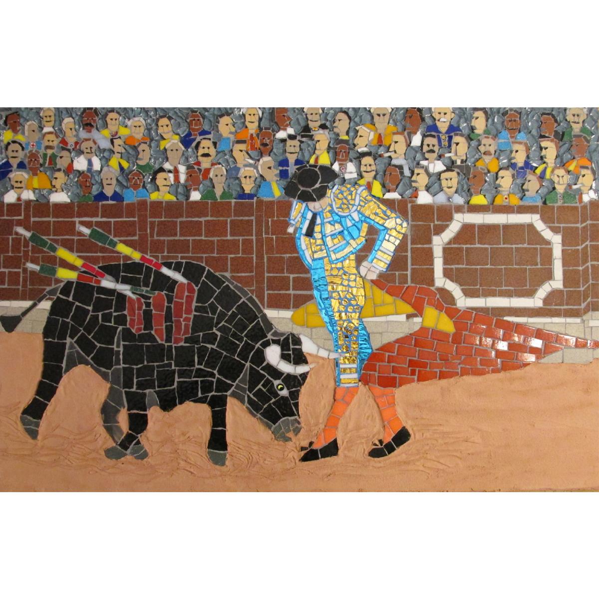 "Roger Hill, The Bullfight, 23""x15"""