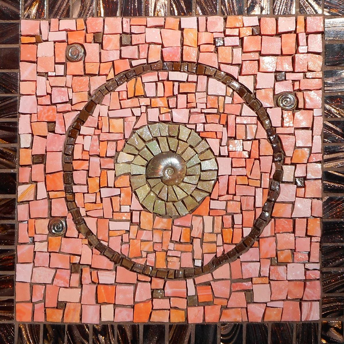 """Ammonite Spiral, 12""""x12"""""""