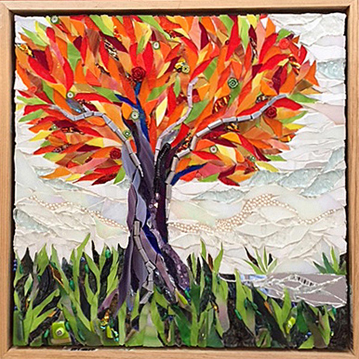 """Cheryl Cohen, """"Autumn Glow"""", 12"""" x 12"""""""